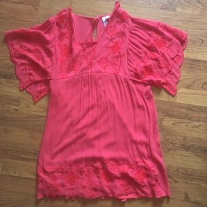 Pink Tshirt Dress, can be worn as long shirt